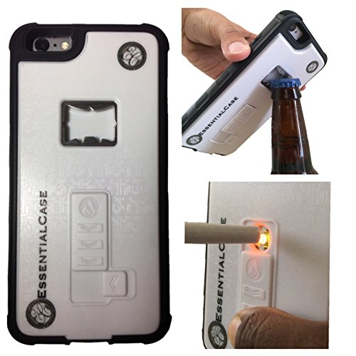 essentialcase phone case for iphone 6 6s and 6 6s built in cigarette lighter bottle opener. Black Bedroom Furniture Sets. Home Design Ideas