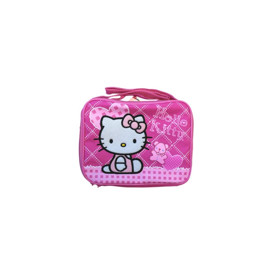 Pink Hearts Hello Kitty Lunch Box   Pink Hello Kitty Lunch Pal
