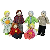 Hape - Happy Family Doll House - Caucasian Doll Family