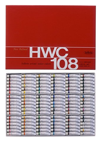 108-color-holbein-transparent-watercolors-all-colors-set-japan-import