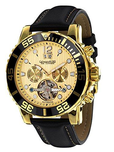 Calvaneo 1583 calvaneo-107791 - Reloj , correa de cuero color negro