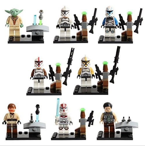 8pcs/Lot STAR WARS Clone Wars Soldiers Troopers Darth Vader C-3PO Darth Maul Minifigures Figures Model Building Blocks Bricks Learning Educational Toys Gift for Children Kids by Shiv