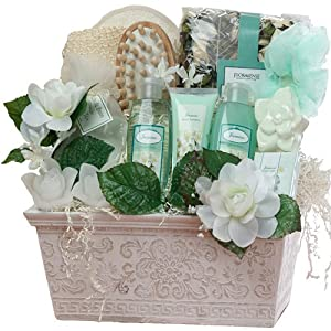 Art of Appreciation Gift Baskets Large Jasmine Renewal Spa Bath and Body Set