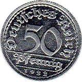 50 Pfennig Alemania, 1922 G (Jäger: 301) FDC