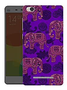"Humor Gang Indian Elephant Ethnic Pattern Printed Designer Mobile Back Cover For ""Xiaomi Redmi Mi 4C"" (3D, Matte, Premium Quality Snap On Case)"