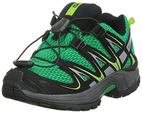 SalomonXA Pro 3D K - Scarpe da Trail Running Unisex - Bambini, colore Multicolore ( Real Green / Black / Granny Green ), taglia 26