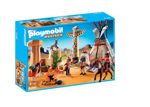 Playmobil Native American Camp With Totem Pole front-934273