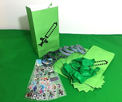 Best Prices! Party Favor Sets for Minecraft-themed Birthday Party, 8 Pack - Birthday Party Supplies:...
