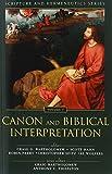 img - for Canon and Biblical Interpretation (Scripture and Hermeneutics Series) book / textbook / text book