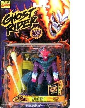Marvel Comics, Ghost Rider Zarathos Action Figure Toy, Includes Custom Comic Book - 1