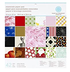 Martha Stewart Crafts Paper Pad, Holiday, 12 by 12 Inches, 42 Sheets