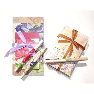 Mothers Day Pamela Gladding 8 Piece Gift Set Vanilla Cream Sachets, Shabby Chic Pamela Gladding Pens, Notebooks