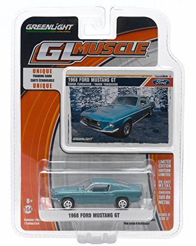 1968-ford-mustang-gt-tahoe-turquoise-gl-muscle-series-12-greenlight-collectibles-164-scale-2015-die-