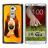 Slim Design Hard PCAluminum Shell Case Cover for LG G2 D800 D802 D802TA D803 VS980 LS980 Basset Hound  Pendant Ear Dog JUSTGO PHONE PROTECTOR