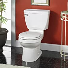 American Standard Champion Round Front Toilet Bowl with Bolt Caps