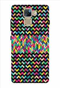 Noise Aztec Black Printed Cover for Huawei Honor 7