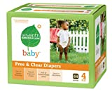 Seventh Generation Free and Clear Baby Diapers Super Jumbo Box, Stage 4, 27 Count