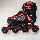 KONEX Aluminium Body Professonal Inline Skates Adjustable 90mm PU WHEELS