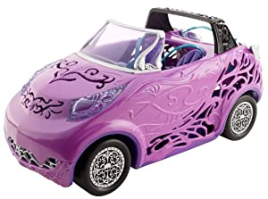 Mattel Y4307 Monster High Scaris - Coche descapotable de juguete (accesorio para muñecas Monster High)