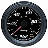 Equus 6244 Oil Pressure Gauge - Black