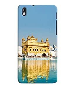 Fuson 3D Printed Golden Temple Amritsar Wallpaper Designer Back Case Cover for HTC Desire 816 - D845