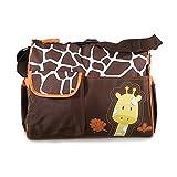 Mochilas de Beb� Bolsa De Pa�ales Cambiar Pa�al Bolso Multifunctional para madre -Patr�n Giraffe naranja