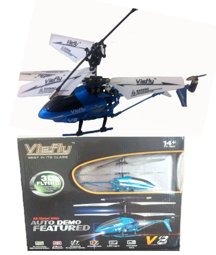 Viefly V8 Indoor Helicopter With LED Light and Auto DEMO Featured Authentic Viefly Brand-Color May Vary