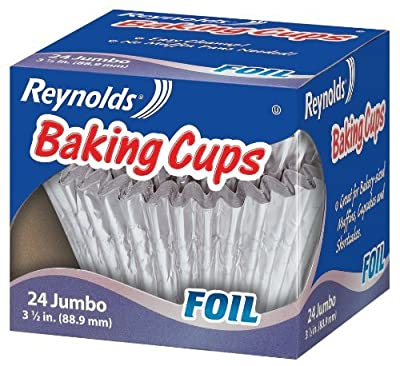Reynolds Baking Cups, Foil, Jumbo, 3 1/2 In, 24 Count