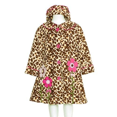 Bonnie Jean Tan Leopard Pink Outerwear Coat Baby Toddler Girls 12M-4T