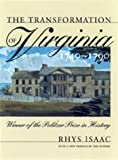 Image of Transformation of Virginia, 1740-1790 (Published for the Omohundro Institute of Early American Hist)