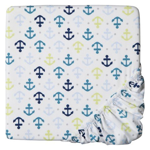 Circo Whales n' Waves Fitted Crib Sheet - 1