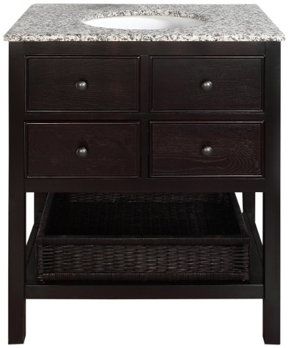 Simpli Home NL-DAVENPORT-EB-30-2A Burnaby Collection 30-Inch Bath Vanity, Espresso, 1-Pack