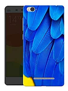 "Humor Gang Blue Bird Feathers Printed Designer Mobile Back Cover For ""Xiaomi Redmi Mi 4C"" (3D, Matte, Premium Quality Snap On Case)"