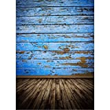 Mohoo Vintage Blue Wood Floor Photography Backdrops Photo Props Studio Background 1.5x2.1m