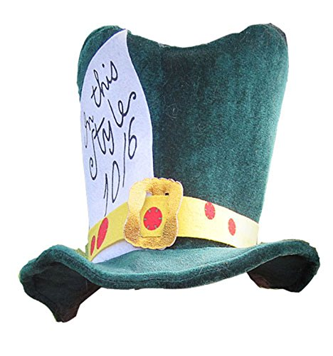 Alice's Adventures in Wonderland Green Hatter Hat