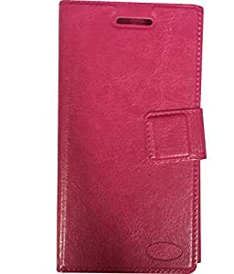 Zocardo Faux Leather Flip Case Flip Diary Cover For Xiaomi Redmi 1S -Pink with Stand , Magnetic Lock