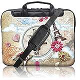 TaylorHe Housse Sacoche en Nylon pour Ordinateur Portable 15 pouces/15,6 pouces avec des poches latérales de la poignée et bandoulière girafe, tableau en liège