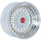 ESM-002R Wheels Rims White Machined Lip 15x9 15