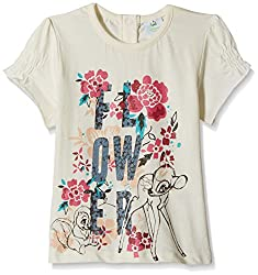 Disney Baby Girls' Blouse Shirt (TC 2851_Off-White_9-12 Months)