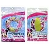 Disney Minnie Mouse Swim Ring & Beach Ball Set