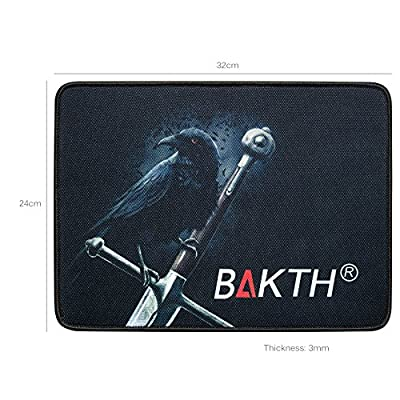 BAKTH PC Gaming Headset 7.1 Surround Sound Stereo Gaming Headphones USB 2.0 with Microphone Vibration for Computer Pc PS3 PS4 Xbox One MAC + Large Customized Mouse Mat