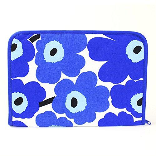 【鶴三工房】 母子手帳ケース marimekkoの生地使用 ブルー