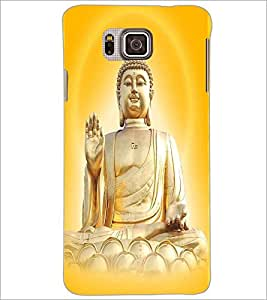 PrintDhaba Lord Buddha D-3306 Back Case Cover for SAMSUNG GALAXY ALPHA (Multi-Coloured)