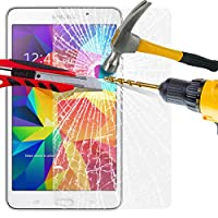 Samsung Galaxy Tab 4 (7.0 Inch) T230 Tablet Tempered Glass Crystal Clear LCD Screen Protector Guard & Polishing Cloth BY SHUKAN® from SHUKAN