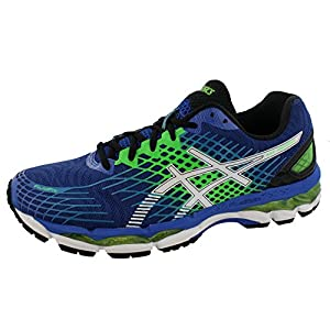 ASICS Men's Gel-Nimbus 17 Running Shoe,Royal/White/Flash Green,10.5 M US
