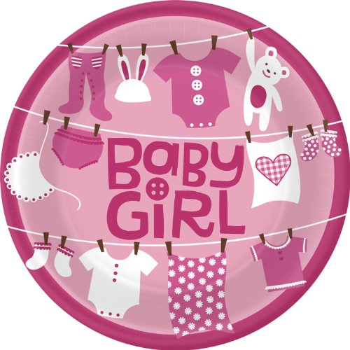 Cute As a Button- Girl Lunch Plates (8)