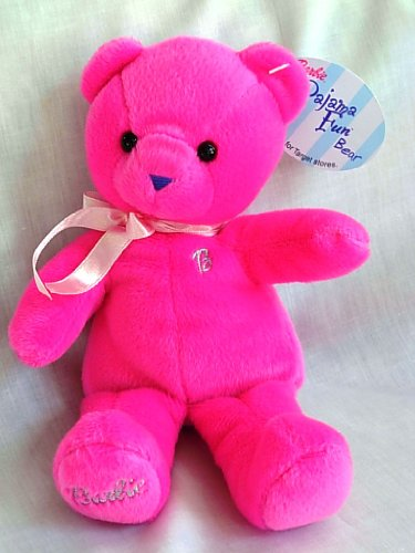Barbie Pajama Fun Bear Bean Bag Plush - 1