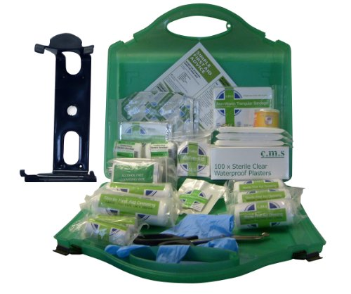 BS-8599 Work Place First Aid Kit Small 1 to 25 Persons. Including Free Wall Mounting Bracket