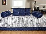 Ab Home Decor 100% Cotton Beautiful Diwan Sets ( Set Of 6 Pieces ),Blue