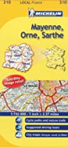 Michelin Map France: Mayenne, Orne, Sarthe 310 (Maps/Local (Michelin)) (English and French Edition)